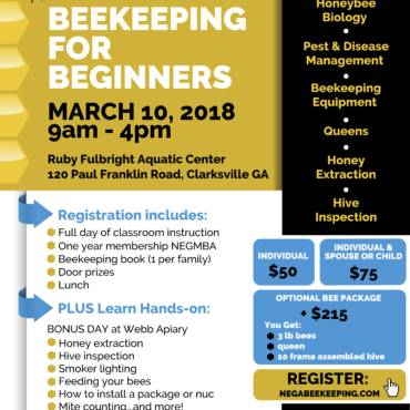 Beekeeping for Beginners Class March 2018