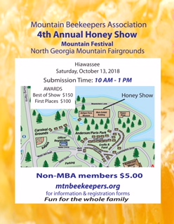 mtn beekeepers honey show